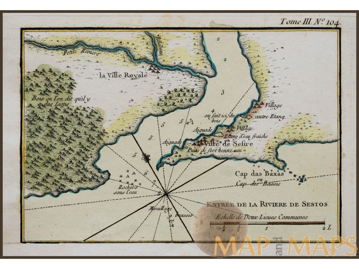 Cestos river liberia old antique map africa bellin 1750 mm cestos river liberia old antique map africa bellin 1750 loading zoom gumiabroncs Choice Image