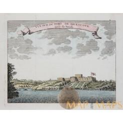 Vue Sud deu Fort de Dicscove Ghana coast Bellin 1750