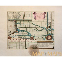 Plan Van Hulst antique map Holland - Dumont 1729