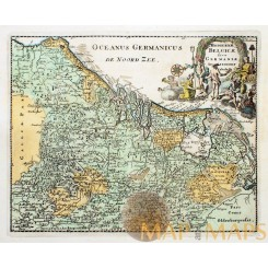 Hodierna Belgicae Low Countries Old map Cluverius 1697