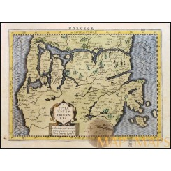 North Jutland, Denmark IUTIA  SEPTENTRIONALIS old map P. van den Keere 1648