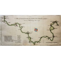 ANTIQUE MAP THE RIVER THAMES FROM BOULTERS LOCK TO MORT LAKE BY BRINDLEY 1771