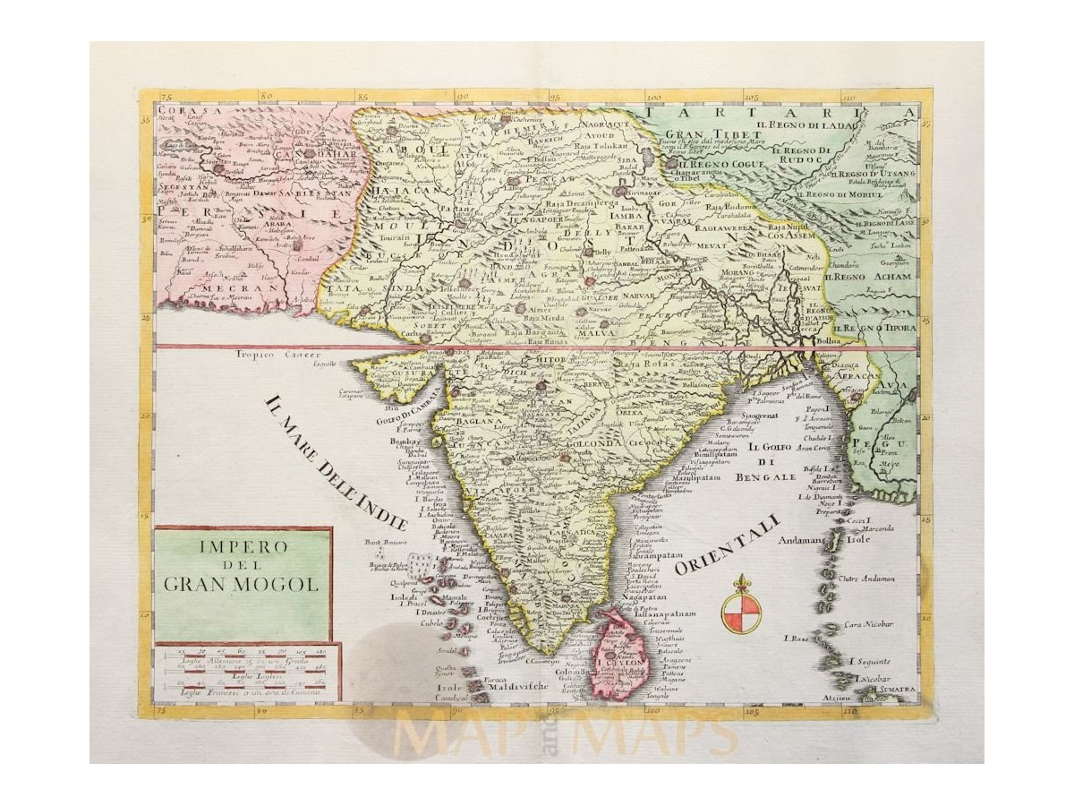 Impero del gran mogol old india map albrizzi 1740 gumiabroncs Images