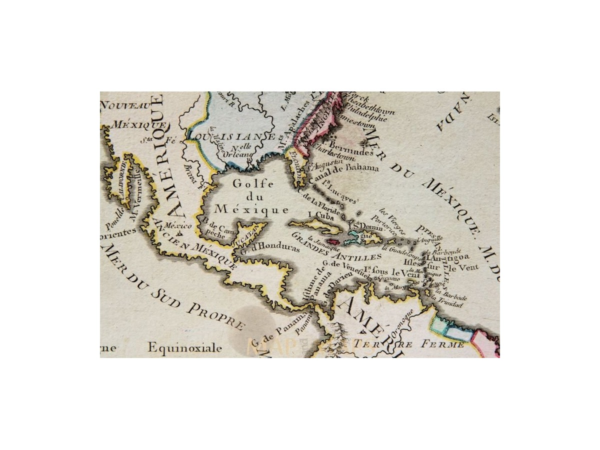 Amerique Old Map North South America Desnos La Tour MM - Old maps of america