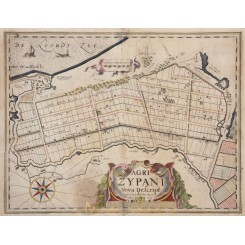 Agri Zypani Antique Map Zype Petten by Kaerius 1625