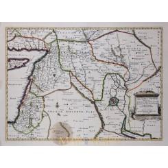Assyria Vetus Divisa old map Arabia Babylonia Sanson 1725