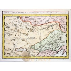 Carte De La Tartarie Occidentale Great Tartary Bellin 1749