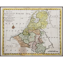 The Seven United Provinces Old Map Netherlands Bowen MM - Map of united provinces india