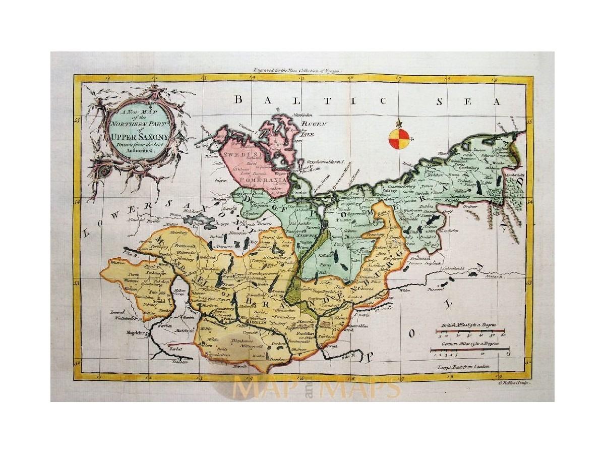 Saxony Brandenburg Germany Upper Saxony Rollos 1756