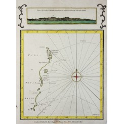 Japan cost lines Antique voyage map Capt Cook Hogg 1790