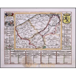 BELGIUM FLANDERN DIE GRAFTSCHAFT FLANDERN ORIGINAL ANTIQUE MAP BY Bodenehr 1720