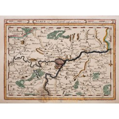 NAMUR REGIO BELGIUM ORIGINAL ANTIQUE MAP BY BODENEHR 1720