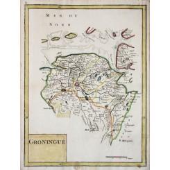 Groningen antique map GroningueLe Rouge 1756