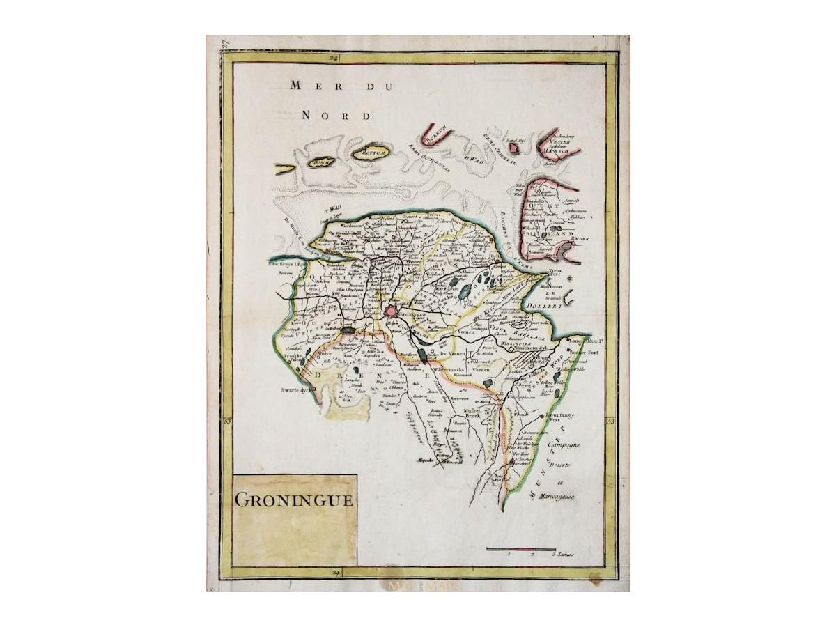 Groningen antique map Groningue Drente le Rouge | M&M