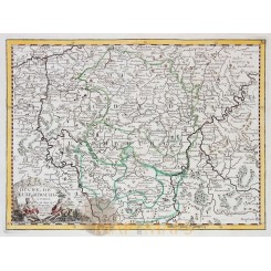 Antique map of the Duchy and Grand Duchy of Luxembourg, by Le Rouge 1748