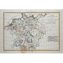 EUROPE-GERMANY-BOHEMIA-CZECH-HUNGARY-OLD MAP-BY BONNE 1787