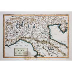 NORTH ITALY VENICE GALLIA ANTIQUE MAP GALLIA CISALPINA CELLARIUS 1796