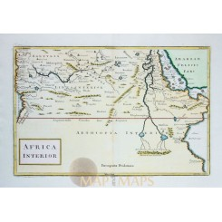 NORTH AFRICA EGYPT ANTIQUE MAP AFRICA INTERIOR CELLARIUS 1796