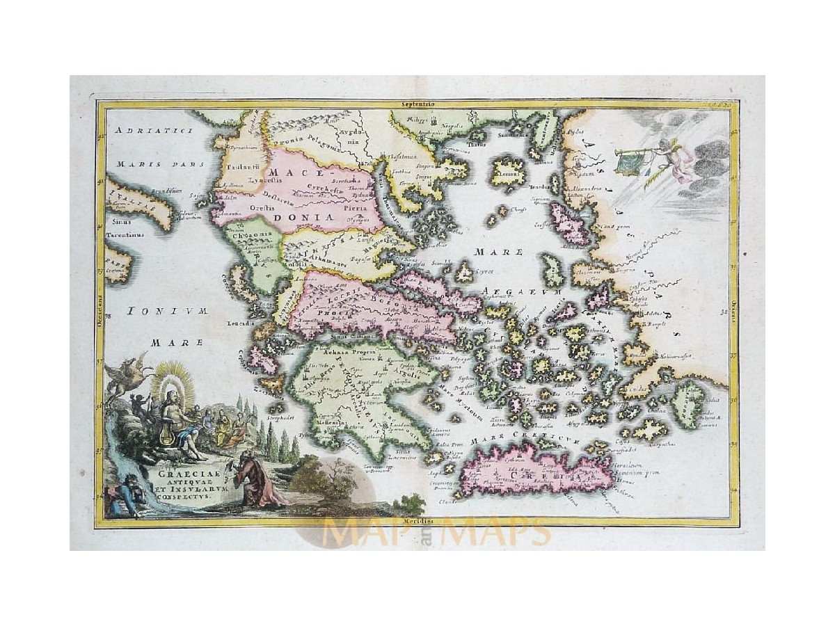 Greece antique old map graeciae antiquae cellarius mm antique map greece graeciae antiquae old engraving cellarius 1731 loading zoom gumiabroncs