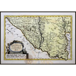 South Western Hungary old map Ungarn Von Reilly 1791