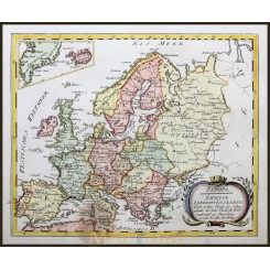 EUROPE HISTORY, GREAT POLAND, RUSSIA, HONGARY,ANTIQUE MAP BY VON REILLY 1791.