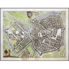 Arras Franc Antique Map Atrecht Guicciardini/ Blaeu 1612