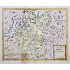 Russia Antique Old map Russie d Europe La Porte 1786