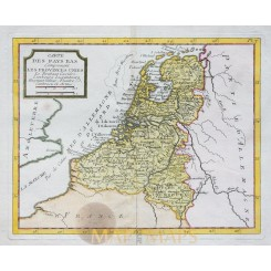The United Provinces antique map by La Porte 1786