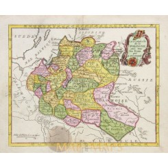 Poland Antique Map Carte De La Pologne La Porte 1786