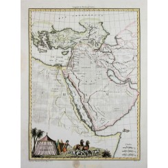 Arabia Old map Geography of Hebreux Malte-Brun 1812