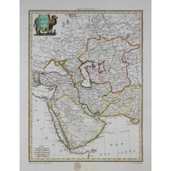 West Asia antique map Asie Occidentale Malte-Brun 1812