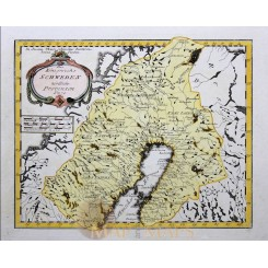 Sweden Antique Map Koningreichs Sweden von Reilly 1791