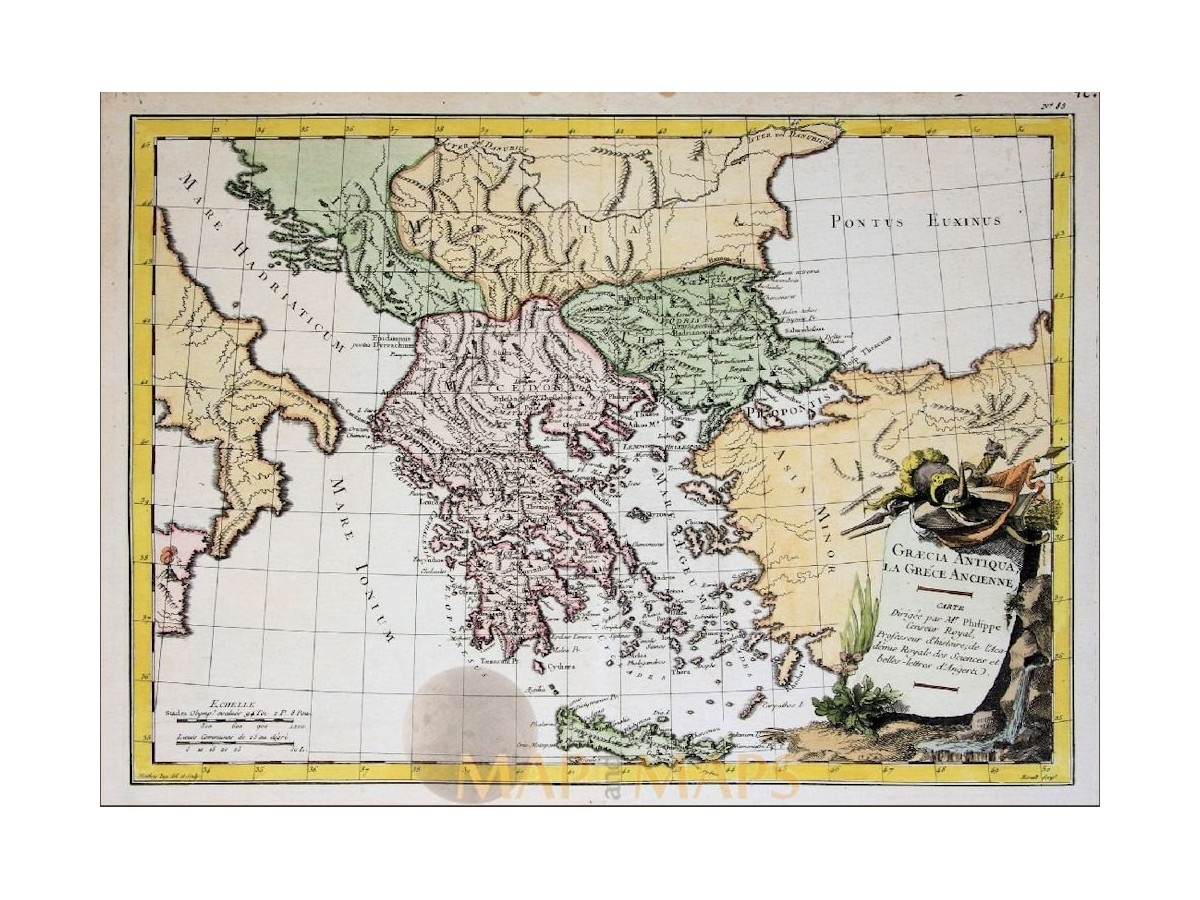 Ancient greece albania old map la greacia philippe mm ancient greece albania old map greacia antiqua la grece ancienne philippe 1787 loading zoom gumiabroncs Gallery