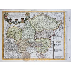 Austria Kingdom Old map Cercle D'Autriche Philippe 1787