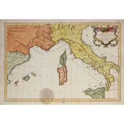 Italy Antique old map L'Expedition D'Annibal Philippe 1787