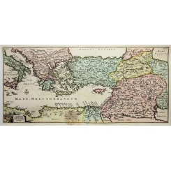 ANTIQUE MAP ITFNERA PAULI SAINT PAUL JOURNEY TO ITALY ANONYMOUS 1760