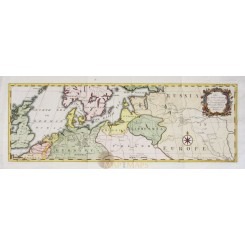 ROUTS TO RUSSIA ANTIQUE MAP ROUTS FROM LONDON AS FAR AS ZARITZEN GIBSON 1753
