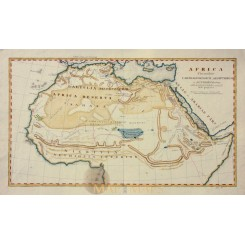 North Africa, Florentibus Carthage antique map c.1800