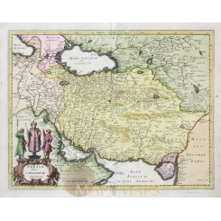 Persia Sive Sophorum regnum Old map Persia Merian 1638
