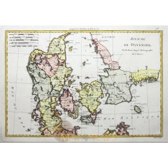 Kingdom Denmark Antique Map Danemark Bonne 1780