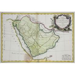 Carte de l'Arabie, Saudi divided into Petree Bonne 1771