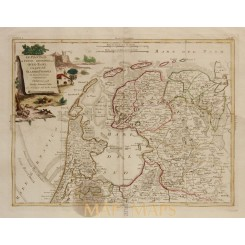 North of Netherlands Antique map by Zatta 1778