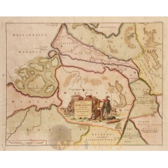 Zeeland antiquem map Descriptio Agri Batavi - Alting 1725