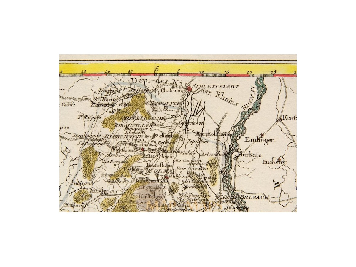 Rhine River Antique Old Map Rhein Flusse By Reilly MM - 1806 map of the us