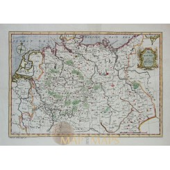 The North Part of Germany antique map by John Gibson 1770