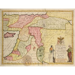 Middle East old map Eastern Parts of Asia Minor Wells 1712