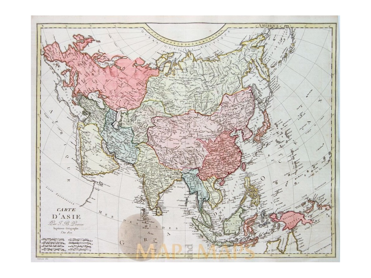Asia old antique map carte dasie j b poison mm carte dasie old map of asia by poison baptiste 1810 loading zoom publicscrutiny Gallery