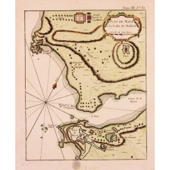 Plan de Maye a la Coste de Malabar India | Bellin map 1754