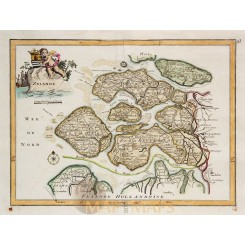 Zeeland Holland Antique Map Zelande Le Rouge 1748