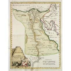 Egypt Pyramids Old map L'Egypte a Paris le Rouge 1748
